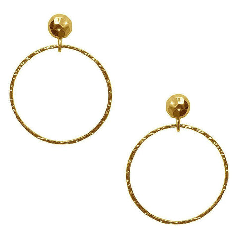 Alizea Large Hoop Drop Earrings