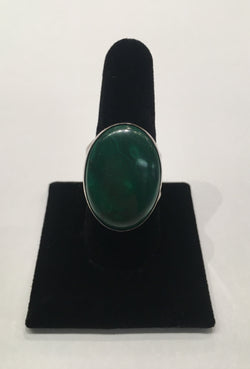 Malachite Sterling Silver Ring