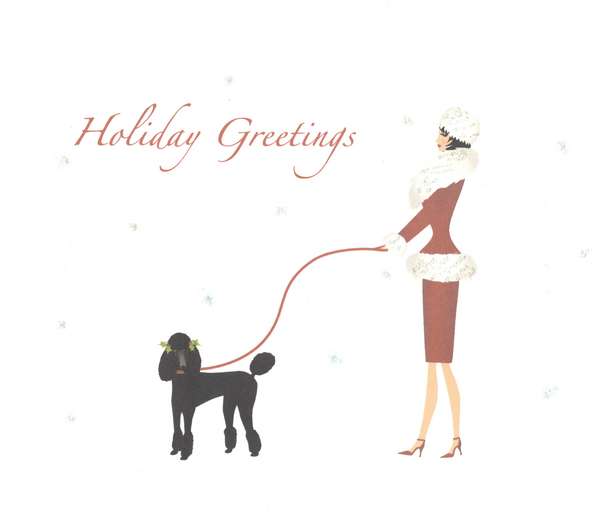 """Holiday Greetings"" Note Card"