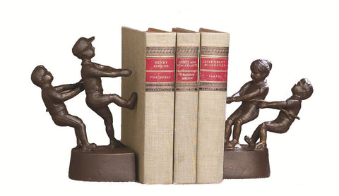 Tug of War Bronze Bookends