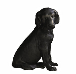 Bronze Iron Labrador Pup Sculpture