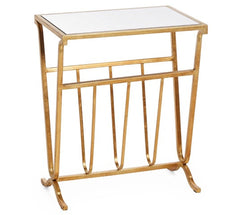 Gold Magazine Table/Mirror Top