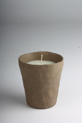 Hand-Sculpted Terracup Candle