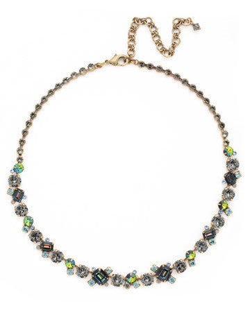 Glittering Multi-Cut Crystal Necklace in Crystal Patina Previous