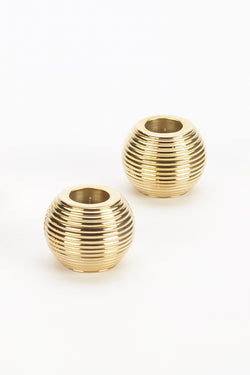 Ribbed Sphere Gold Holder