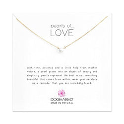 Pearls of Love Small White Pearl Necklace