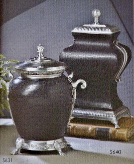 Black Leather Urn