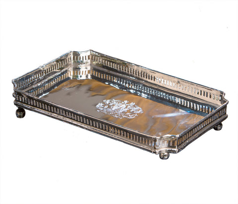 Nickel Rectangular Gallery Tray