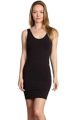 Sleeveless V-Neck/Scoop Neck Dress