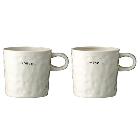 "Ceramic Mug ""Mine/Yours"""