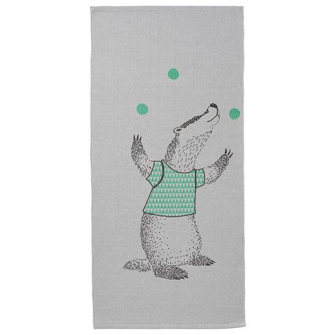 Grey Juggling Badger Rug