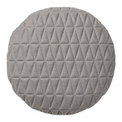 Light Grey Round Quilted Felt Pillow
