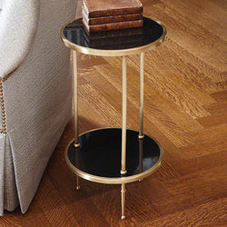 Petite 2 Tiered Table-Antique Brass