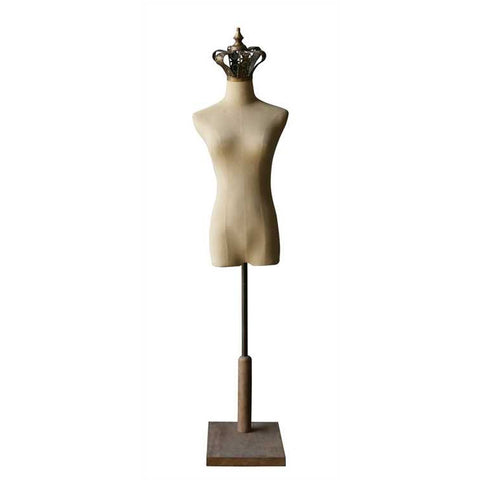Fabirc and Metal Mannequin with Crown