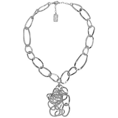 CARLA STATEMENT NECKLACE IN SILVER