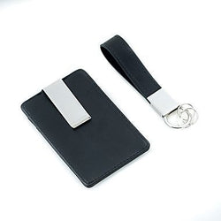 Travel Wallet & Key Ring Set