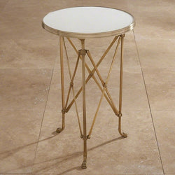 Directoire Table-Brass & White Marble