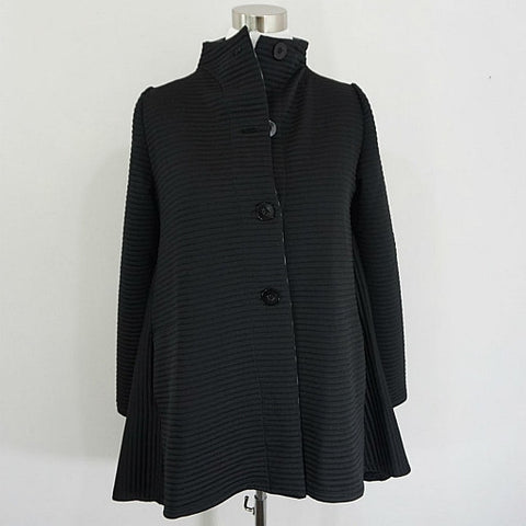 Long-Sleeve Ribbed Jacket