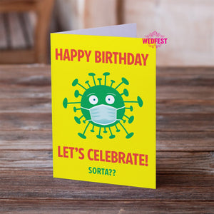 Coronavirus Covid Themed Birthday Cards