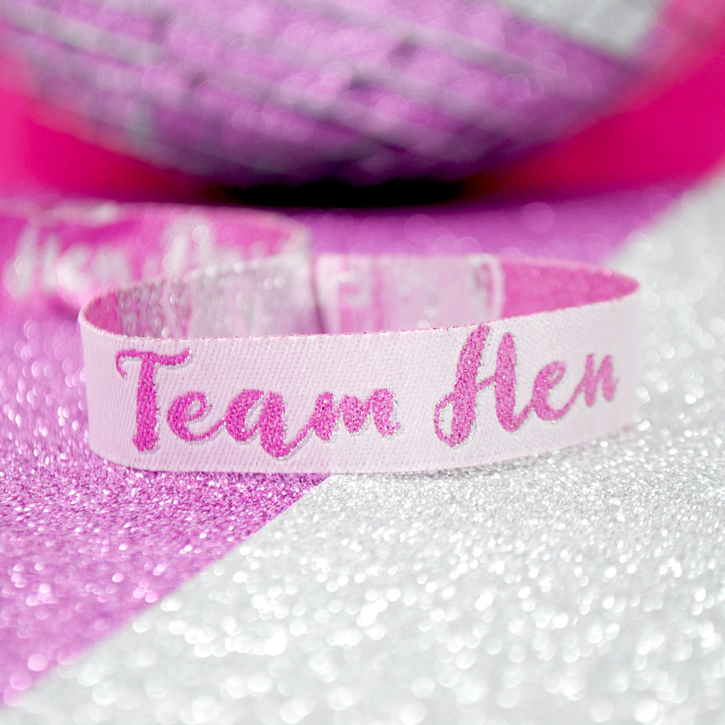 Team Hen - Hen Party Wristband Favours