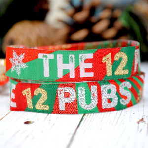 The 12 Pubs of Christmas Party Pub Crawl Wristbands
