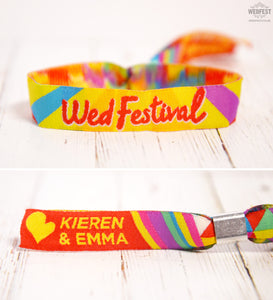 Personalised Festival Wedding Wristbands