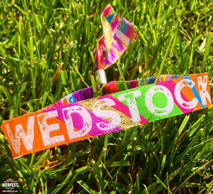 Wedstock Festival Wedding Wristband Favours