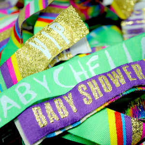 BABY SHOWER WRISTBANDS
