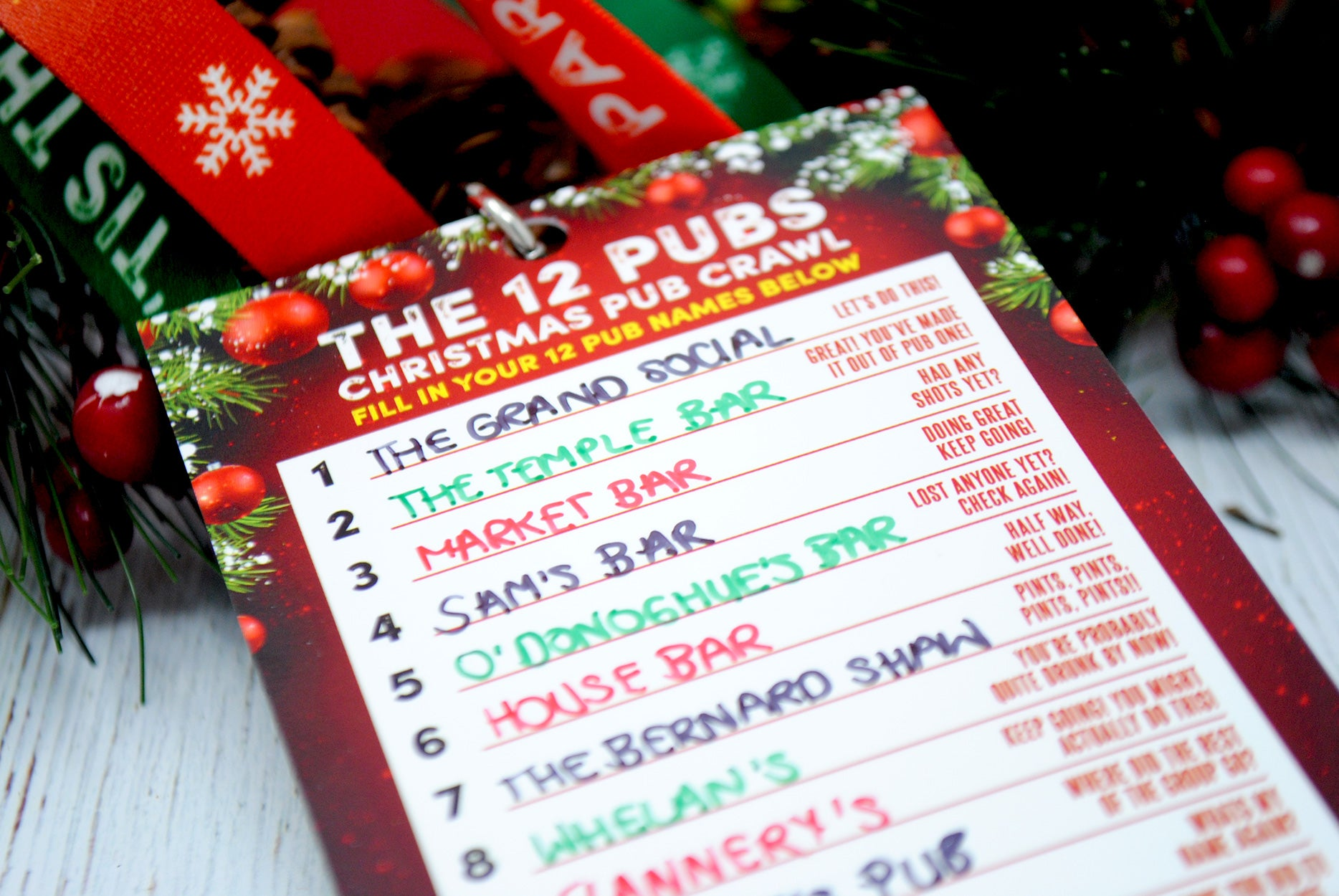 the 12 pubs of christmas dublin pub crawl route
