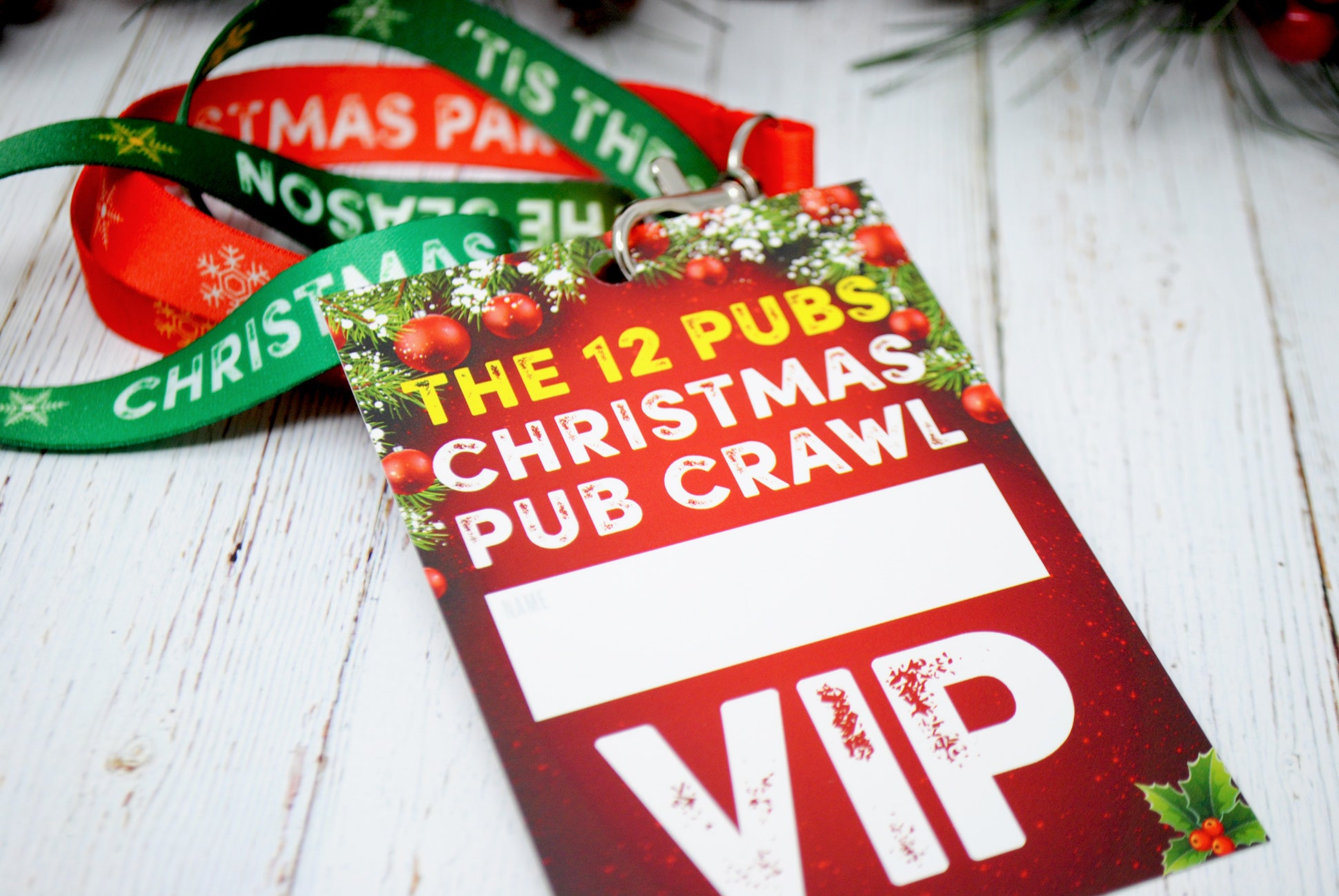 christmas party vip lanyards