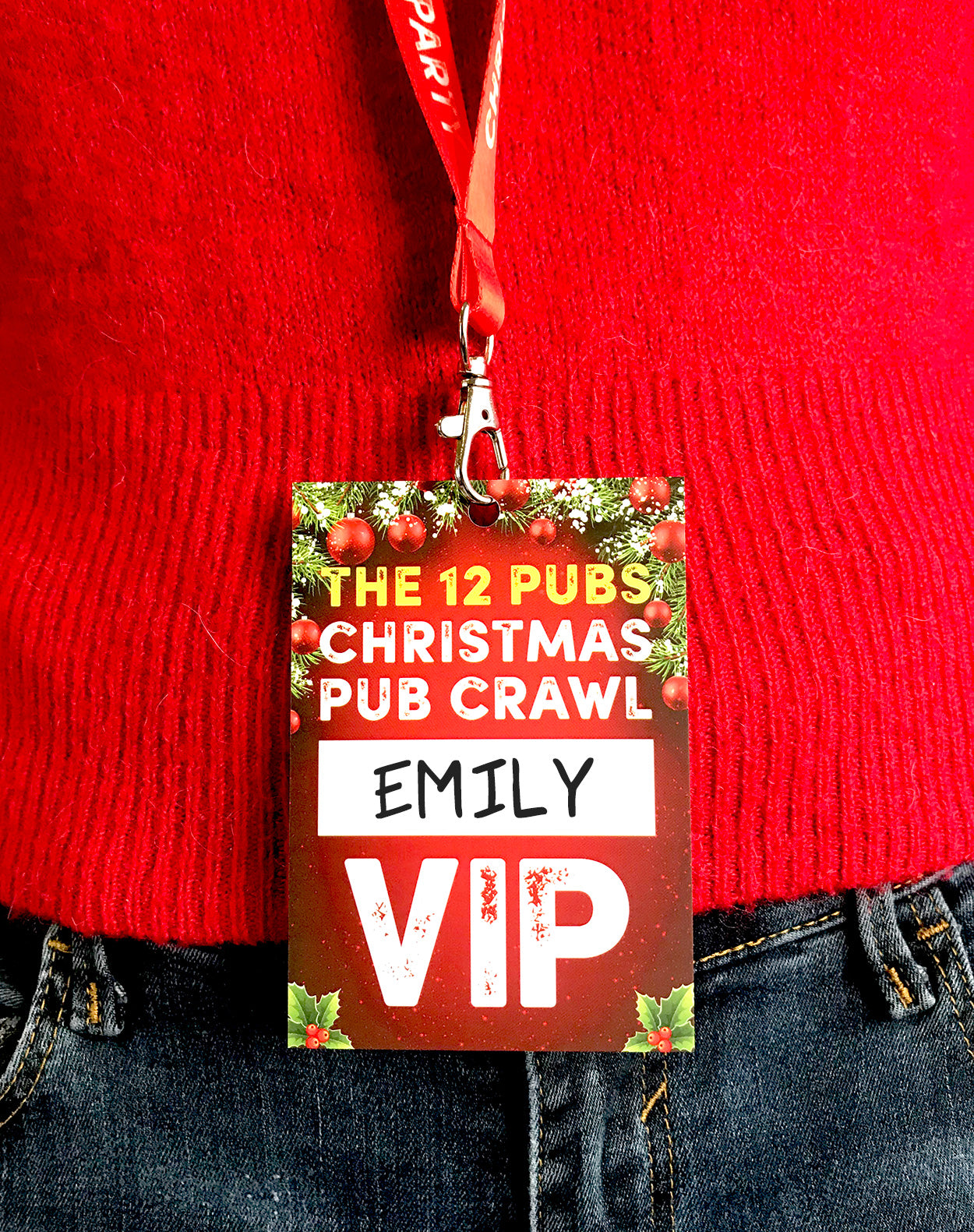 the 12 pubs of christmas pub crawl vip lanyards