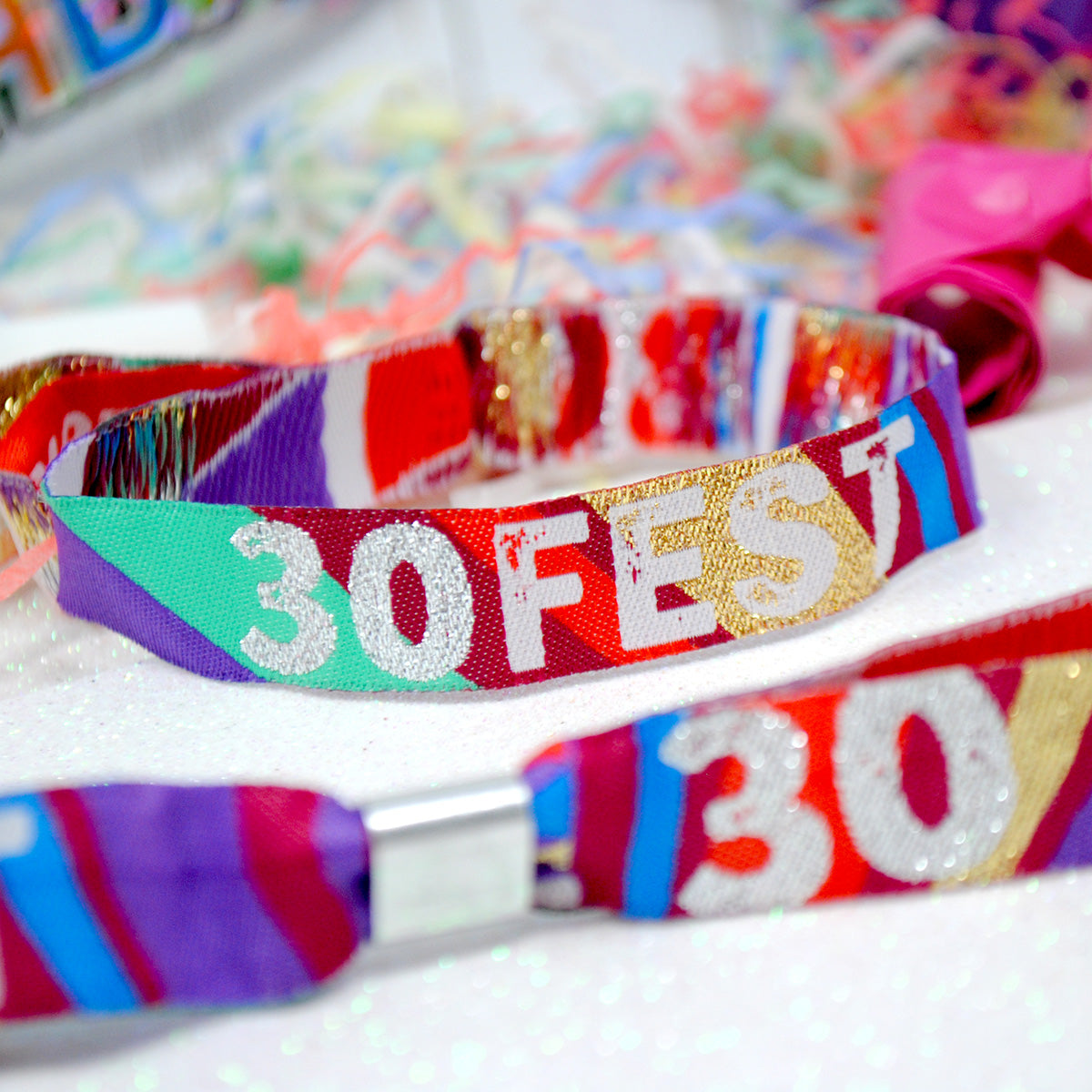 30FEST 30TH BIRTHDAY FESTIVAL PARTY FAVOUR WRISTBANDS
