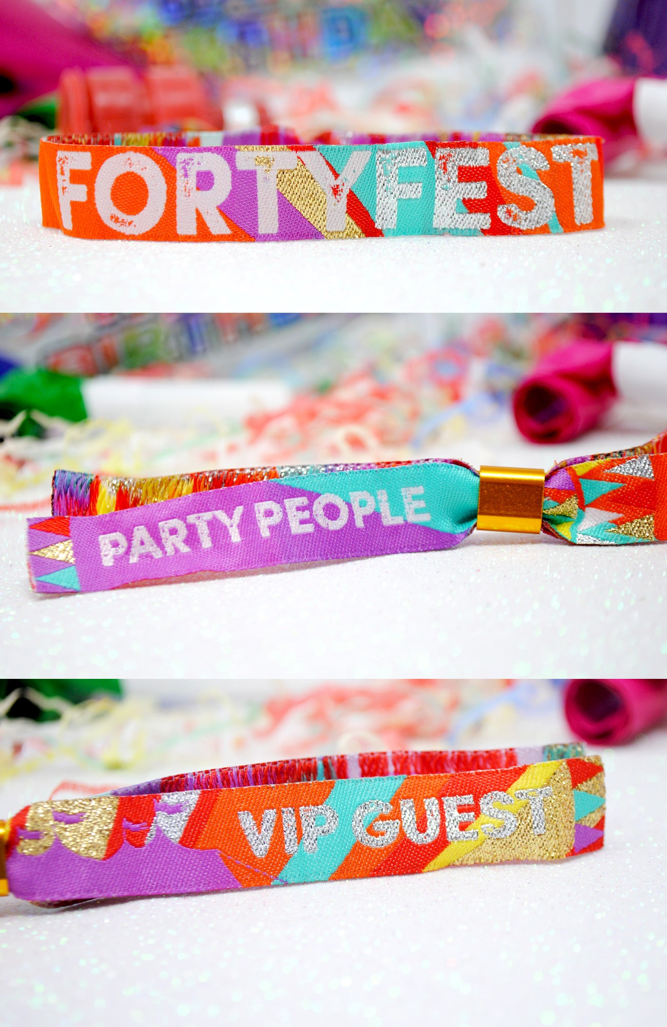 40fest forty fest 40th birthday party wristbands