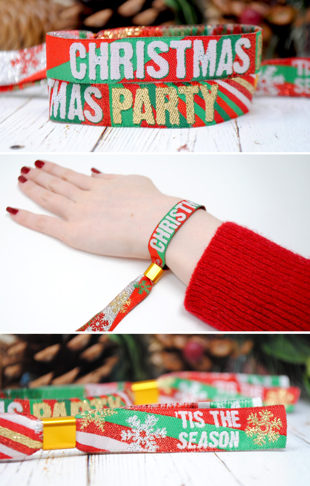 office christmas party wristbands accessories