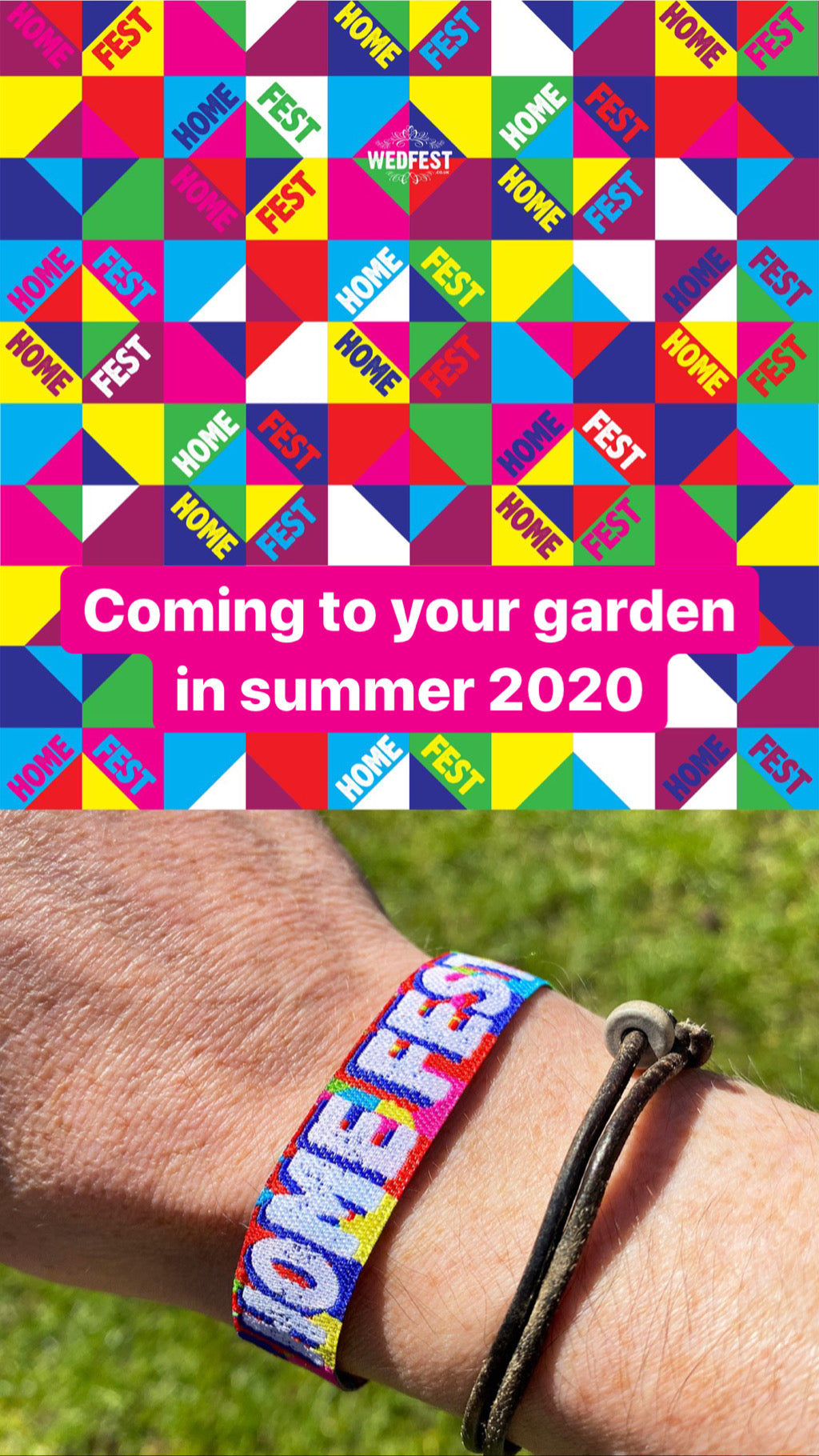 HOMEFEST FESTIVAL 2020 PARTY AT HOME WRISTBANDS