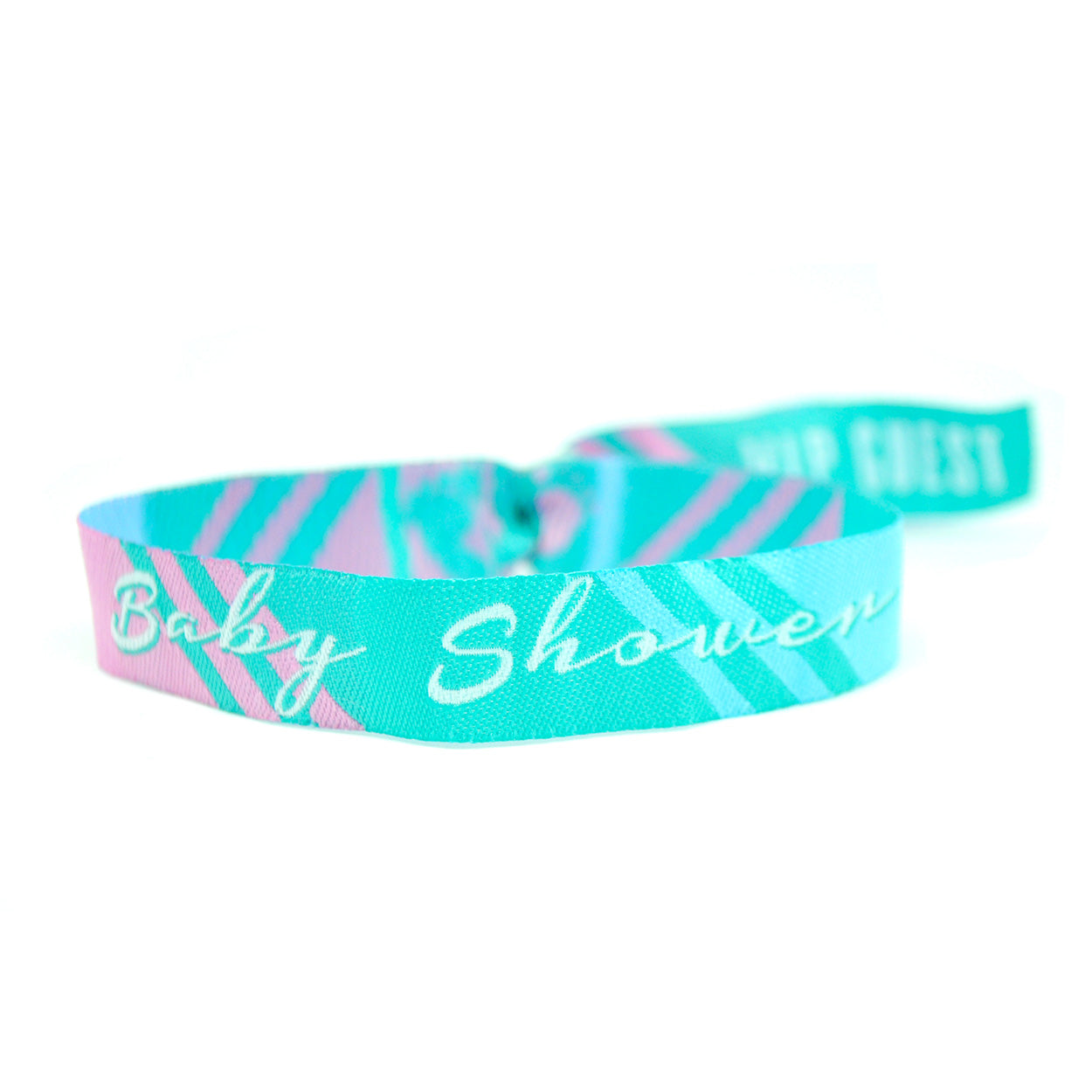 baby shower festival themed wristbands