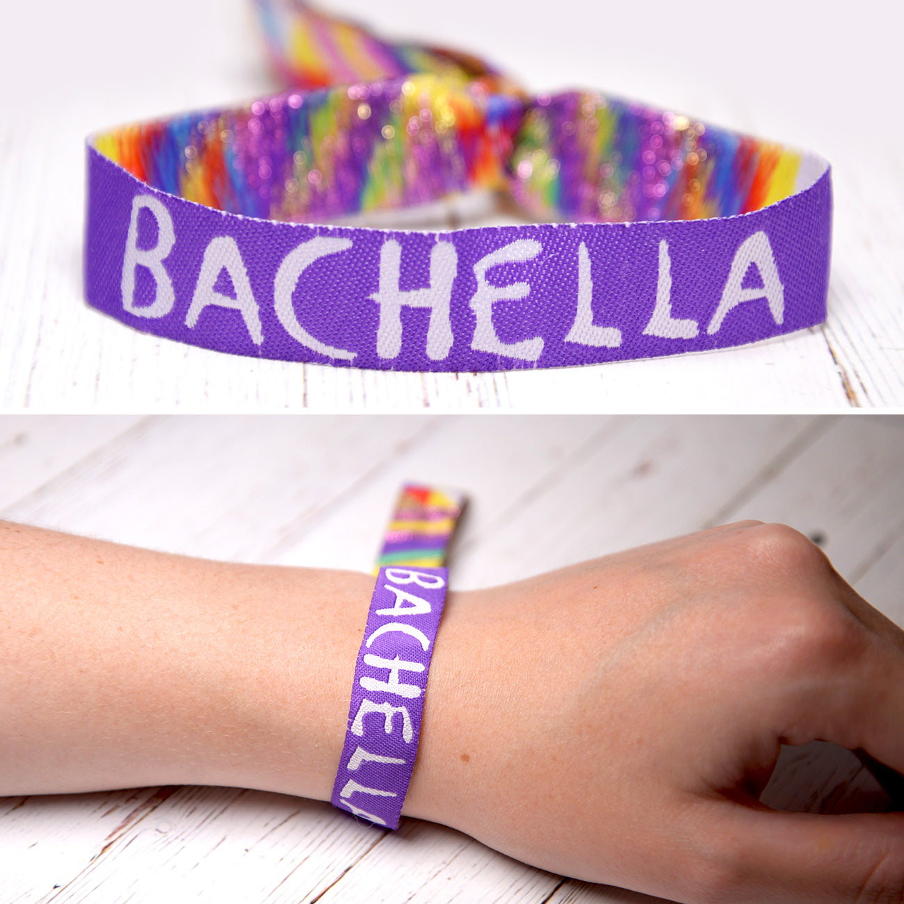 bachella coachella theme bachelorette party wristband favors