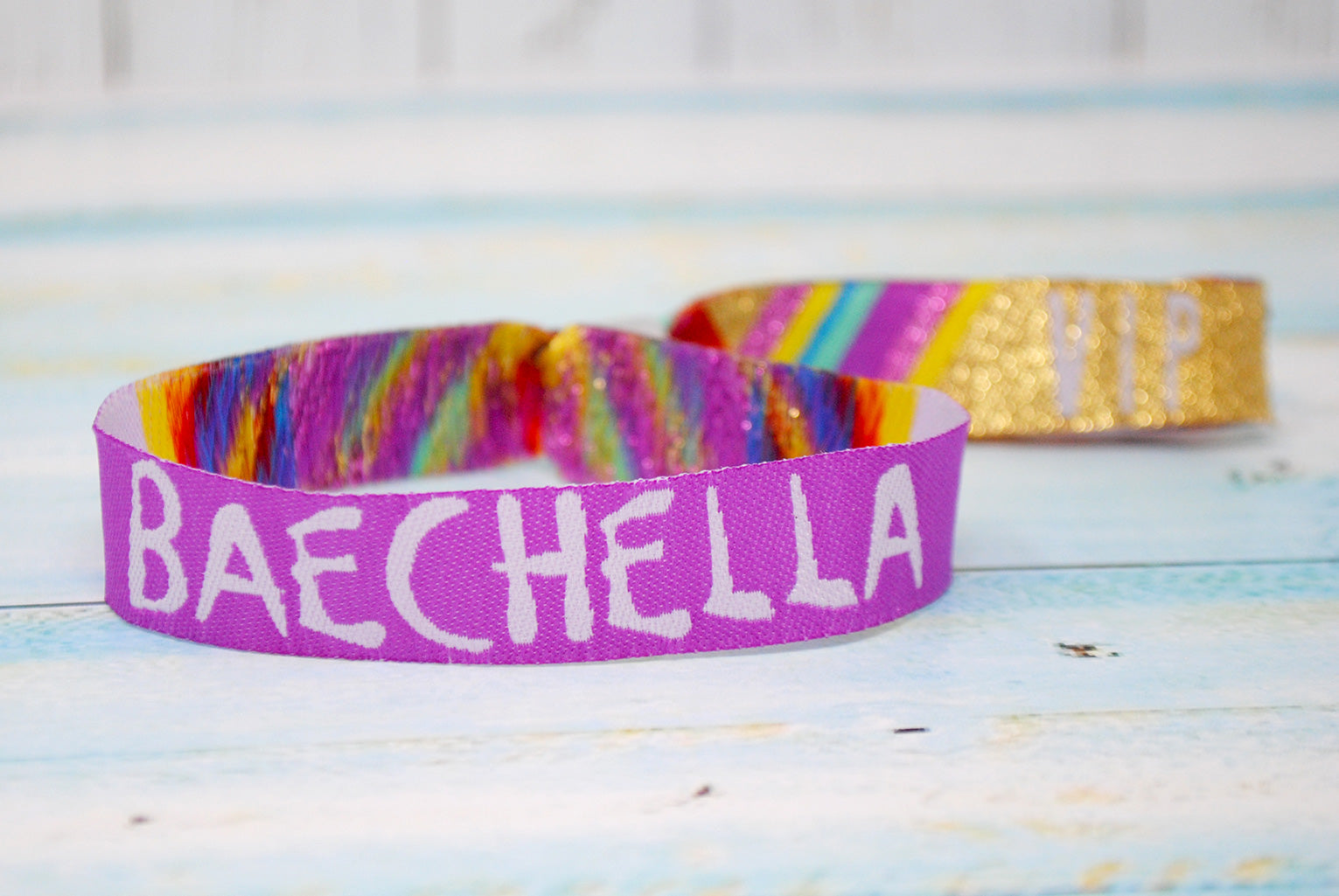 baechella wristband party favours