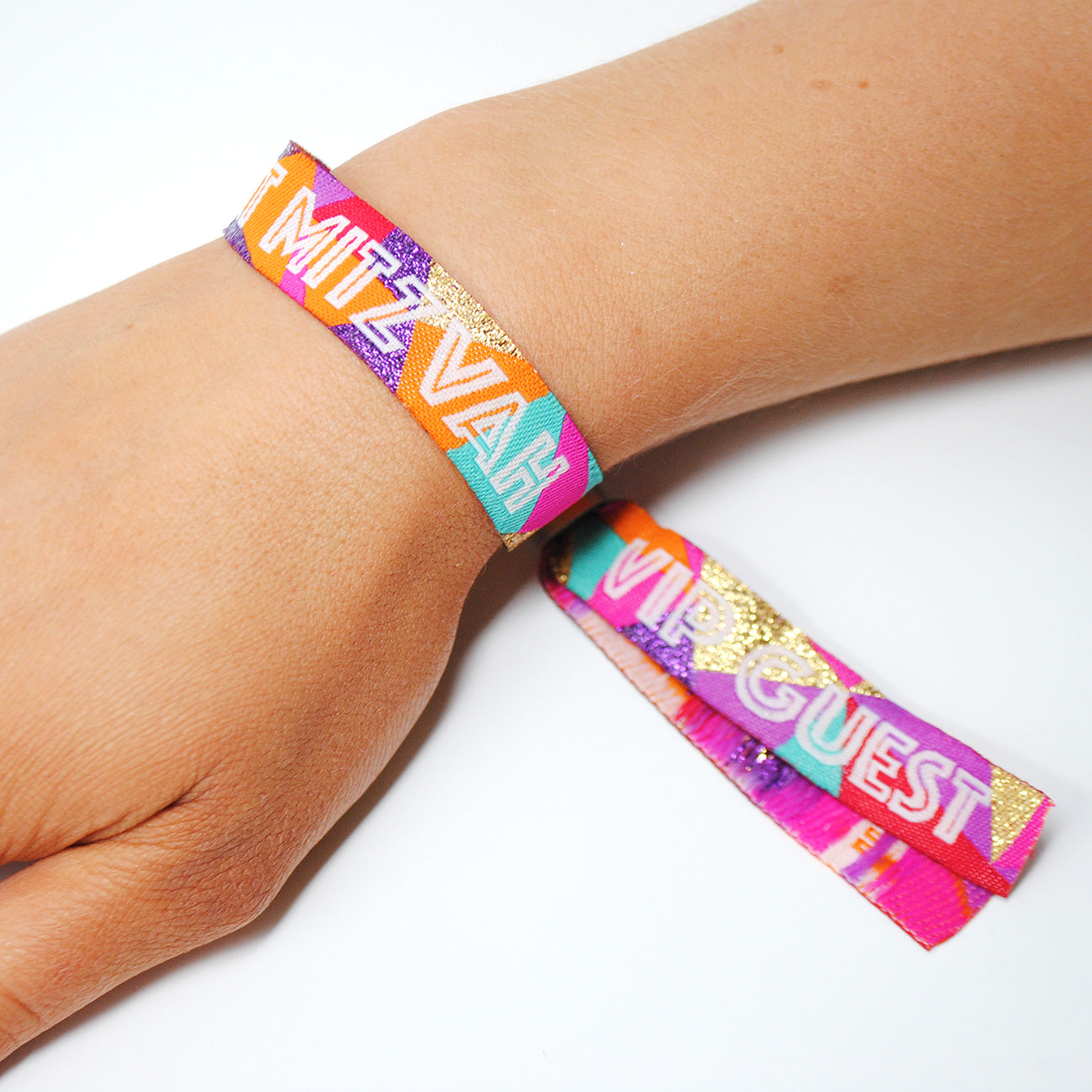 bat mitzvah festival theme party wristbands