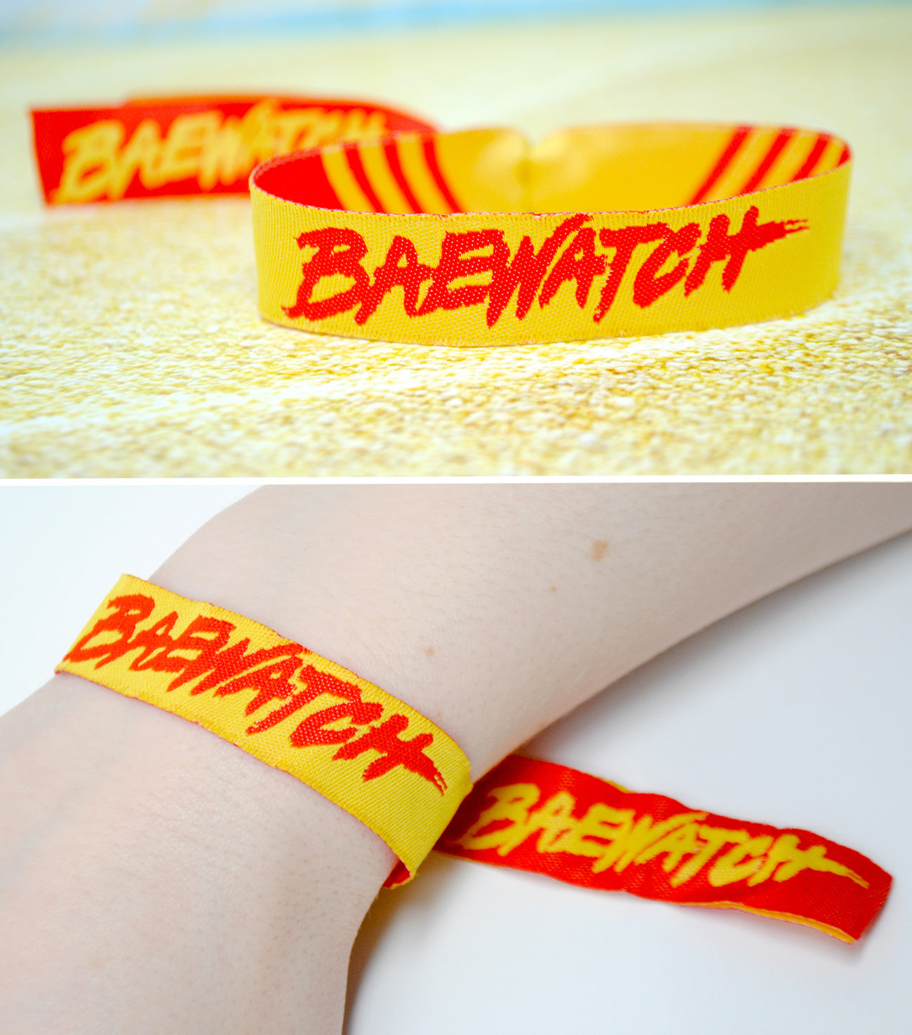 baewatch baywatch wristbands hen bachelorette party