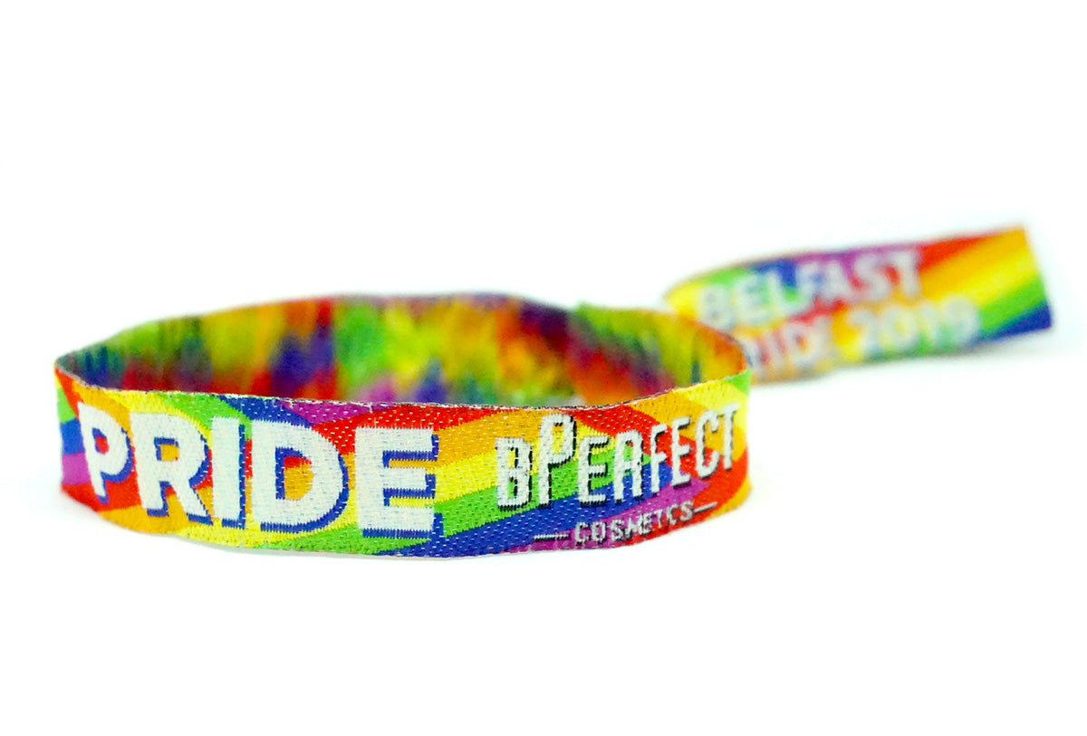 bperfect cosmetics belfast pride wristbands