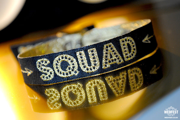 bride squad bachelorette party wristband bracelets