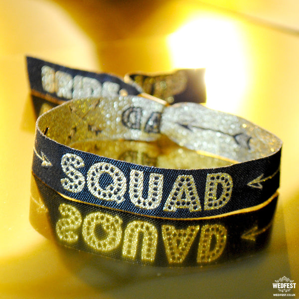 bride squad hen party wristbands
