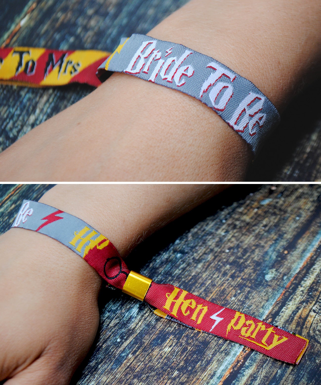 bride to be harry potter hen do party wristband