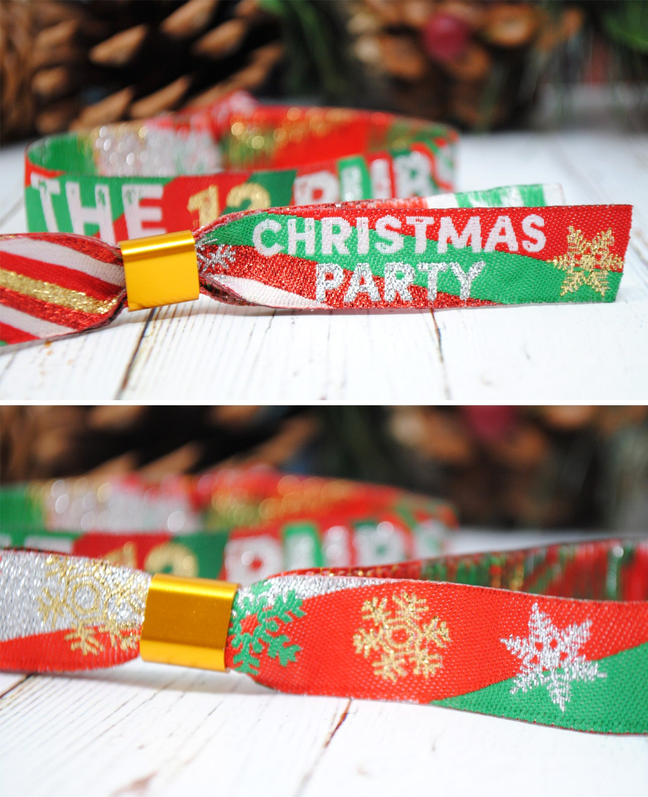 the 12 pubs christmas party wristband accessories