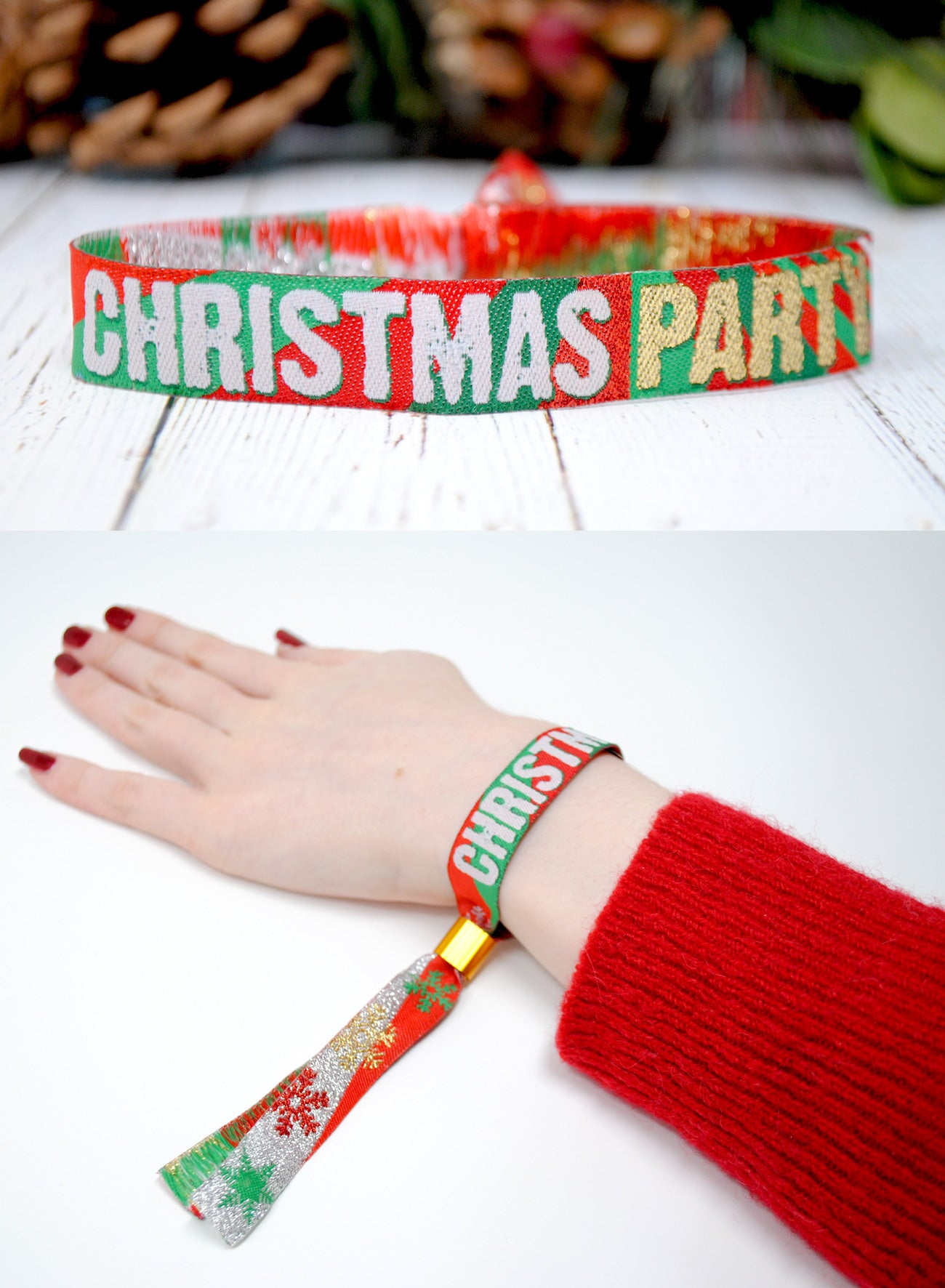 christmas party supplies wristband bracelets