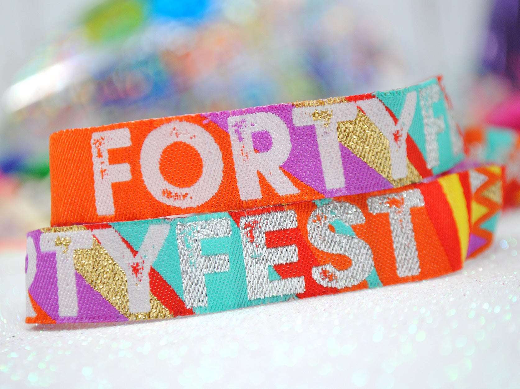 fortyfest 40 fest birthday party wristbands 40th