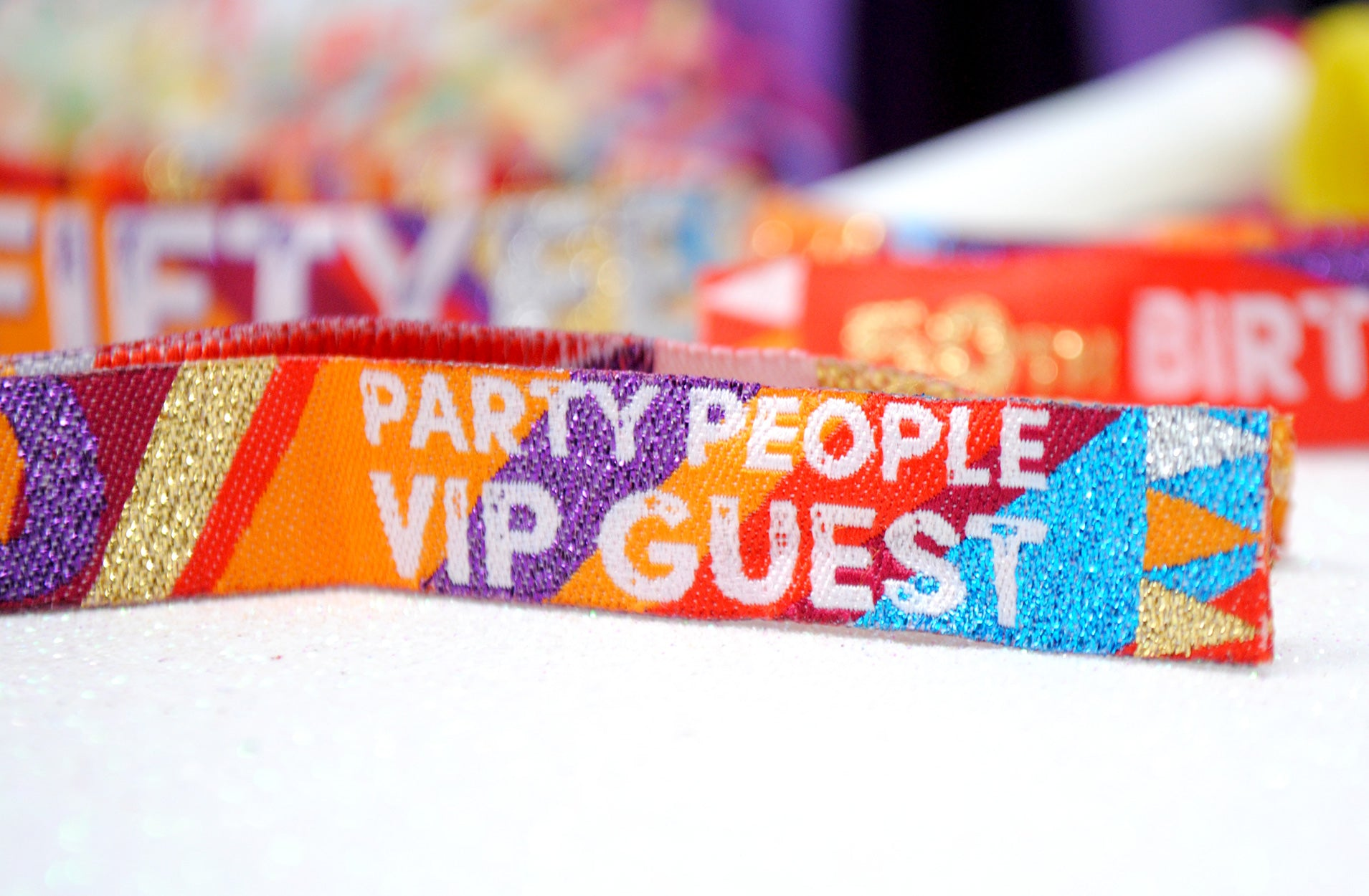 50th festival party birthdayfest wristbands