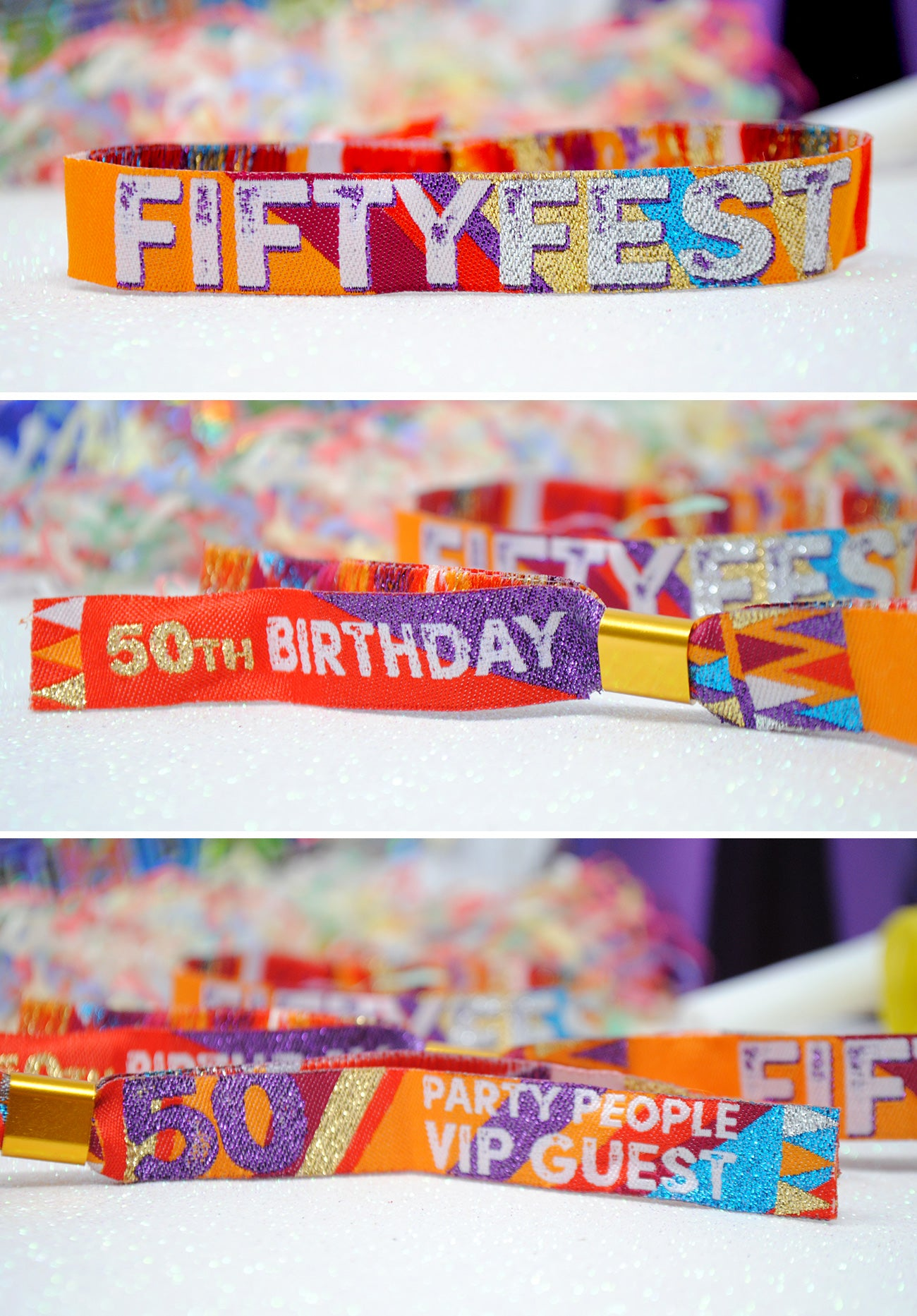 50 fifty fest festival birthday part -wristbands