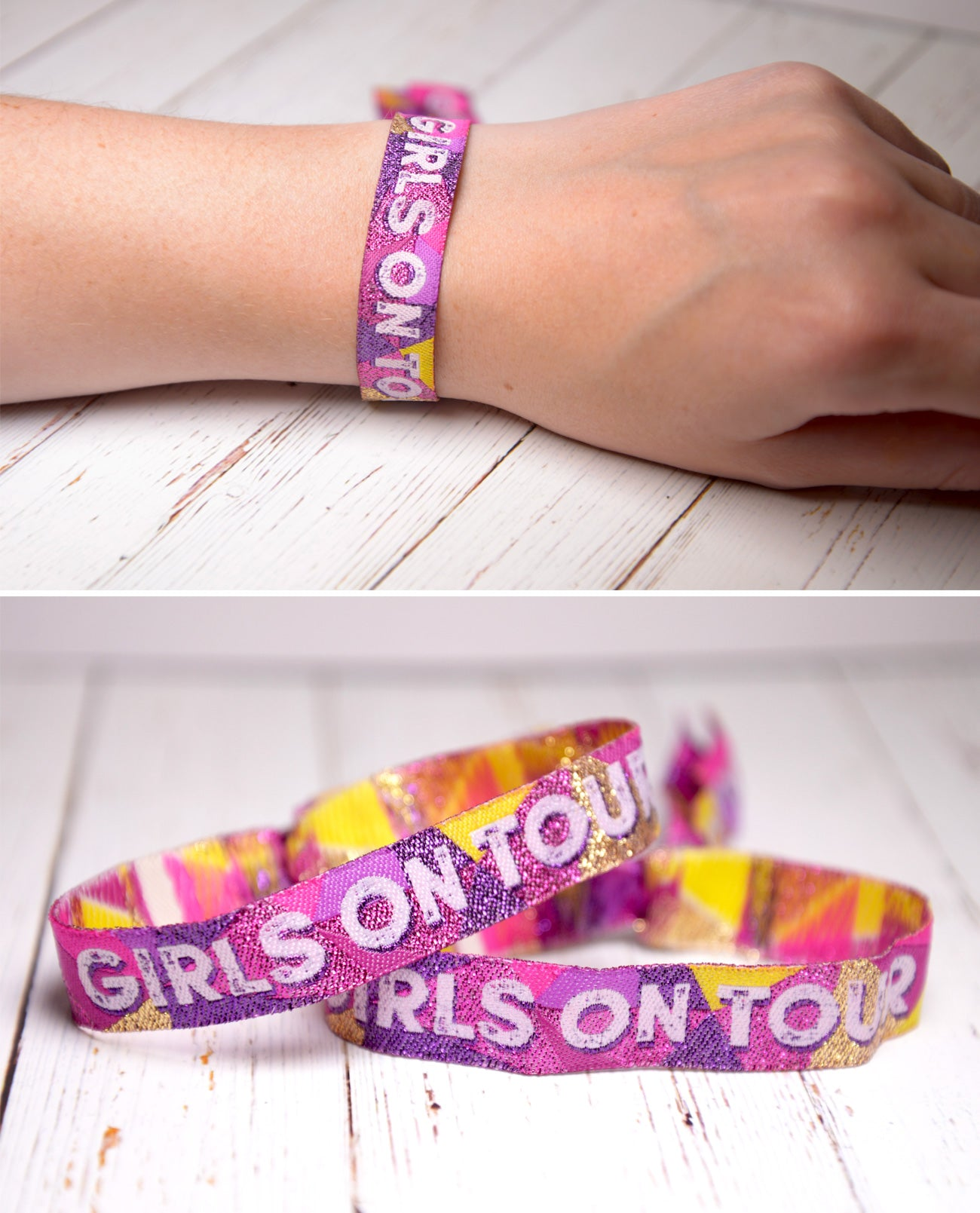 girls on tour generic festival party wristbands